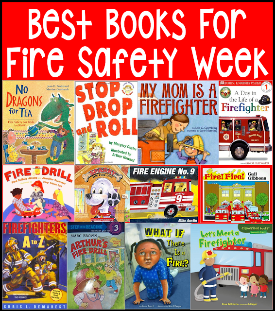Fire safety books for kindergarten: Books about fire safety and fire prevention for pre-school kindergarten and first grade.