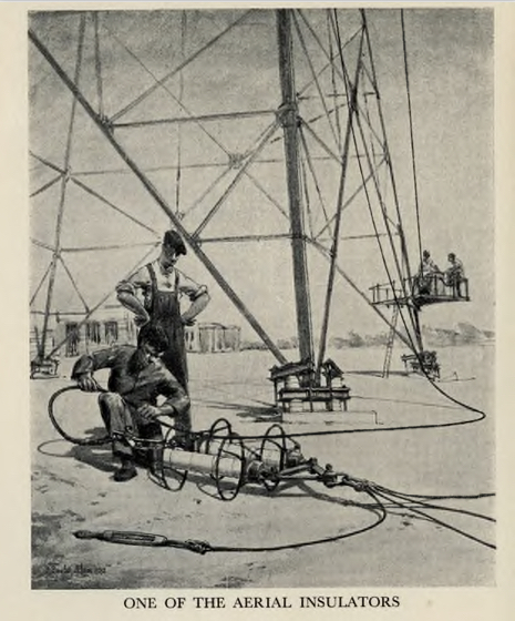 Sketch of one of the aerial insulators at the London Twin-Wave Broadcasting Station Brookmans Park