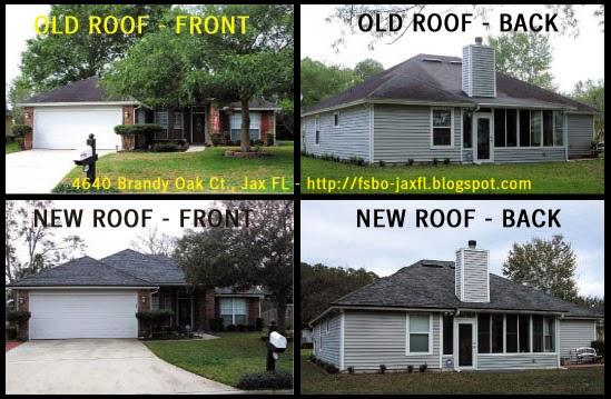 4640 Brandy Oak Court Old vs New Roof Comparison