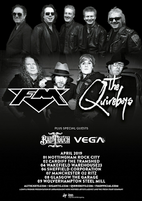 FM - Quireboys - Bad Touch - Vega - April 2019 - tour poster