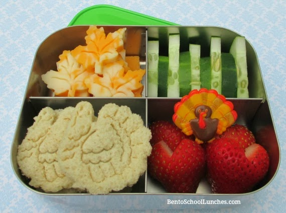 Gobble gobble turkey bento school lunches, Thanksgiving