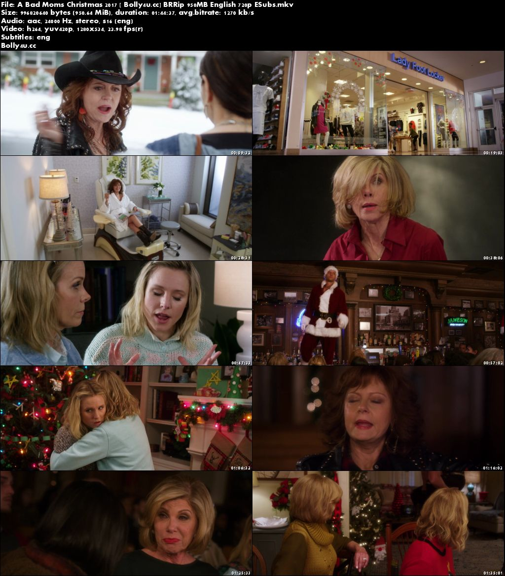A Bad Moms Christmas 2017 BRRip 950MB English 720p ESubs Download