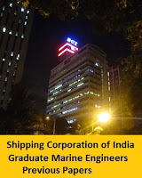 Shipping Corporation of India Graduate Marine Engineers Previous Papers