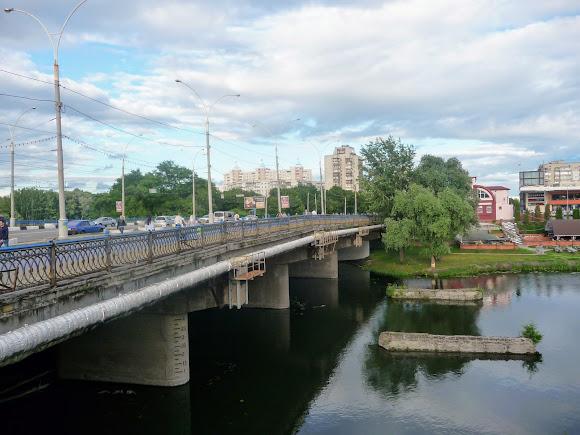 Сумы. Харьковский мост через реку Псёл