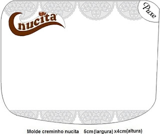 Silver Lace  Free Printable Nucita Labels.