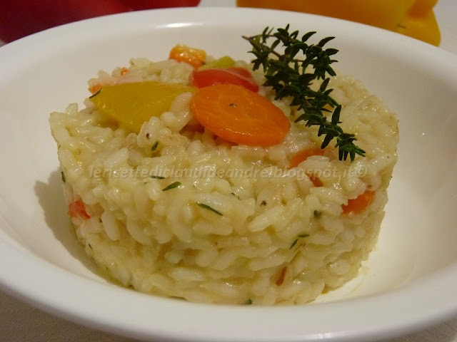 Risotto con peperoni carote e profumo di timo ricetta ed ingredienti dei foodblogger italiani - A tavola con guy ricette ...