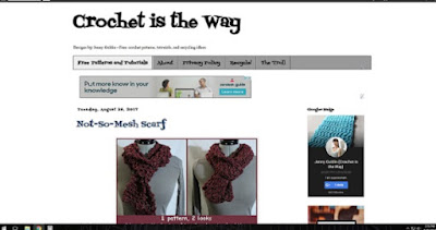 crochet, Crochet is the Way, blog, blogging, web design, background