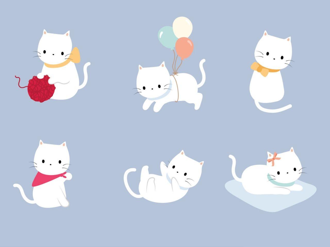 kartun kucing putih