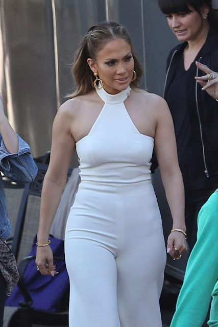 Jennifer Lopez on the set of 'American Idol'