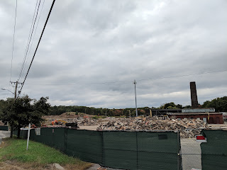 a pile of rubble October 7, 2018
