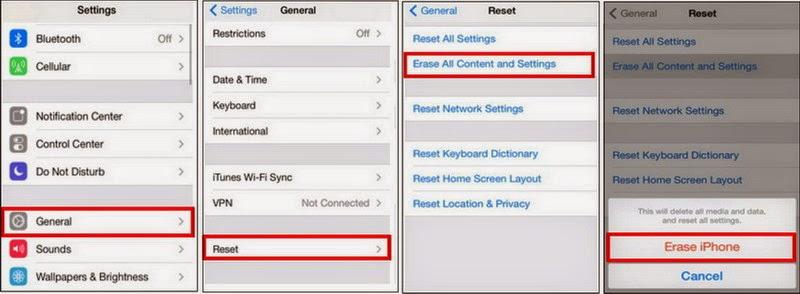 Cara Reset iPhone ke Pengaturan Pabrik