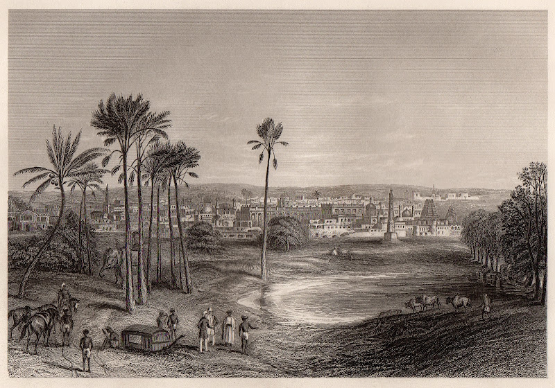 View of Madras  - Indian Lithograph 19th Century