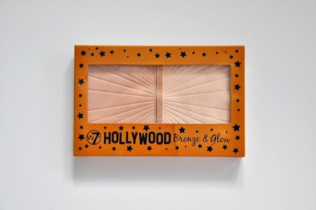 paletka rozświetlaczy w7 hollywood bronze&glow