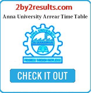 Anna University Arrear Time Table Feb March 2018 UG PG