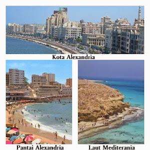 Kota Alexandria,Pantai Alexandria,Laut Mediterania