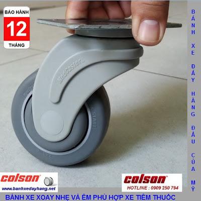 Bánh xe xoay 360 càng nhựa Colson 3 inch chịu tải nhẹ | STO-3856-448 banhxedaycolson.com
