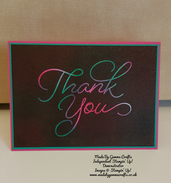 Stampin'Up! Thank you card