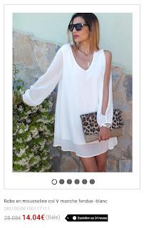 https://fr.shein.com/V-Neck-Split-Sleeve-Chiffon-White-Dress-p-234756-cat-1727.html?utm_source=unblogdefille.blogspot.fr&utm_medium=blogger&url_from=unblogdefille