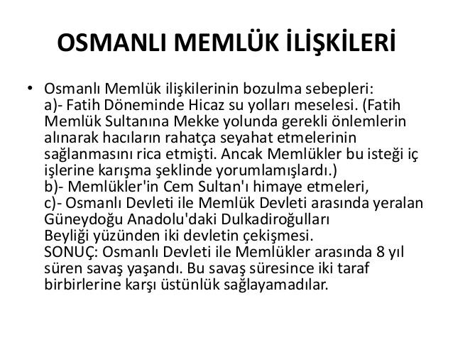 osmanlı memlük savaşı