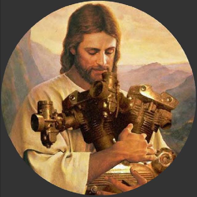 Jésus Christ avec un Vtwin