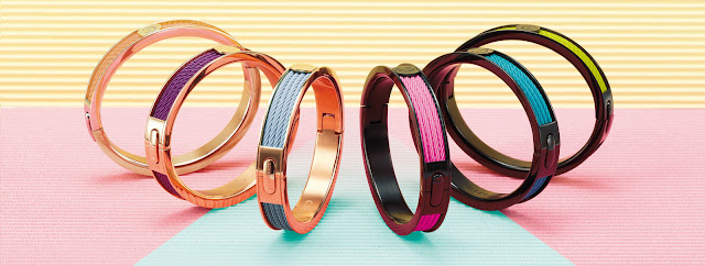 bright enamel bangles that you can stack