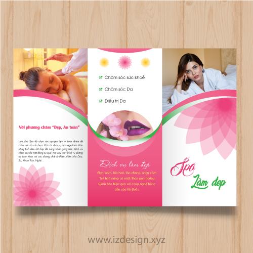 Brochure/Flyer làm đẹp for Spa beauty