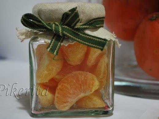 Chuches de mandarinas. Receta de reciclaje