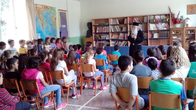 Επίσκεψη του Σεβασμιοτάτου Μητροπολίτου Αργολίδας Nεκταρίου στο Ολοήμερο Δημοτικό Σχολείο Κεφαλαρίου