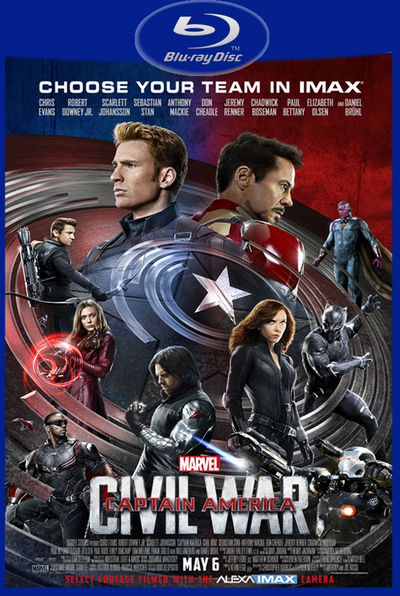 Capitão América: Guerra Civil (2016) BluRay UltraHD 1080p Torrent Dual Áudio 5.1