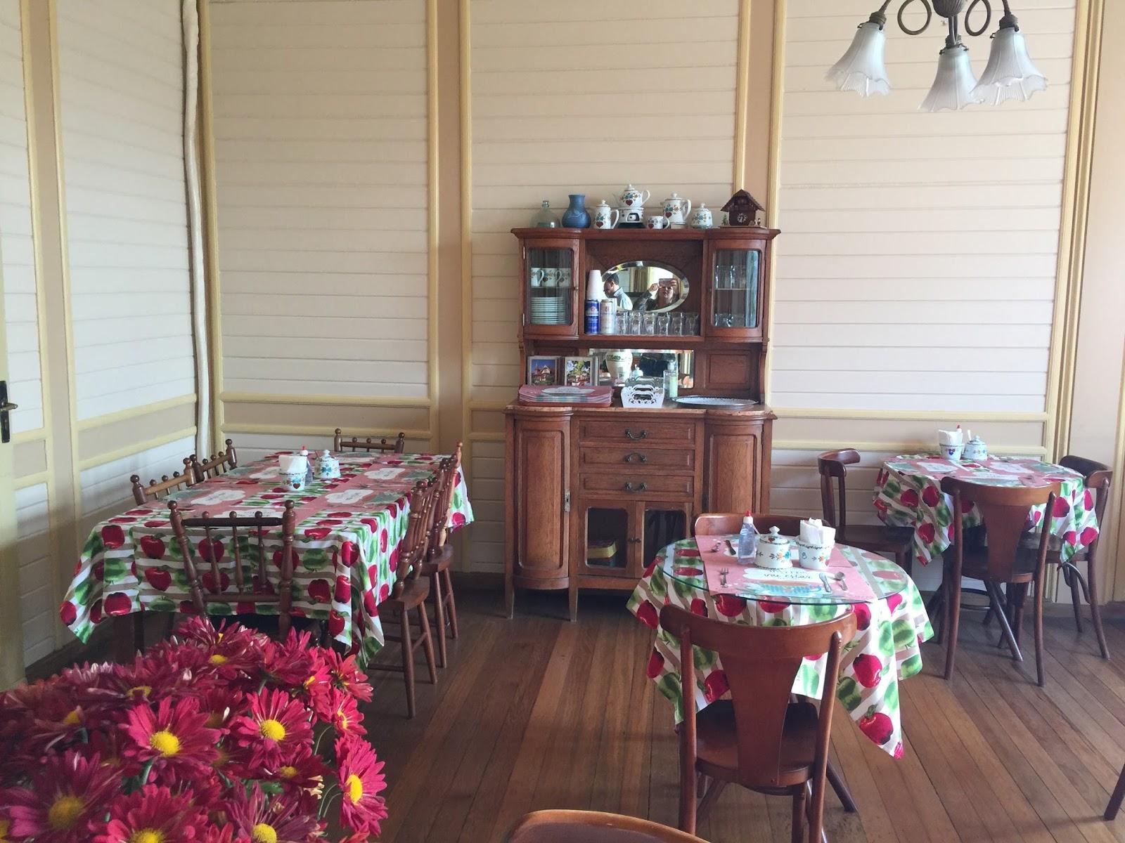 Sala de chá no Castelinho do Caracol