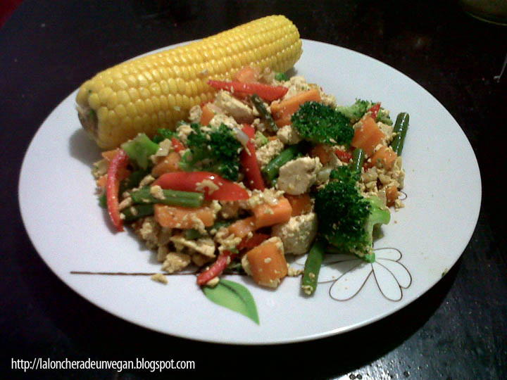Comida Vegana Casera y facil de hacer Tofu machacado con