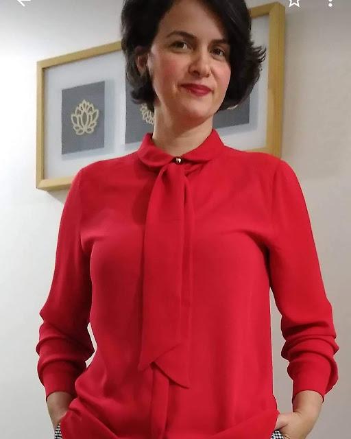 kendin dik, dikiş odamda 29 ekim etkinliği, kırmızı bluz,