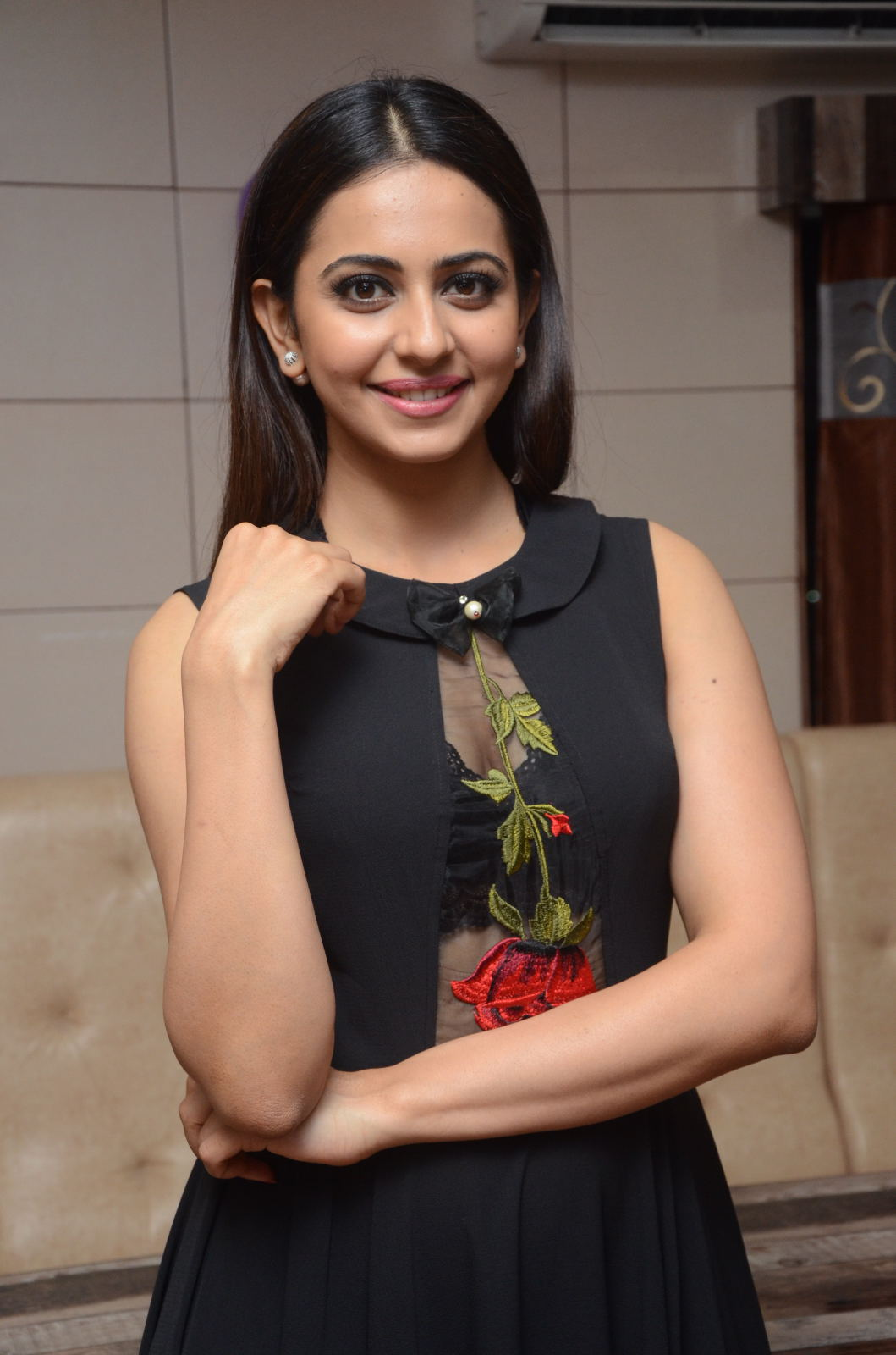 Rakul Preet Photos In Black Dress