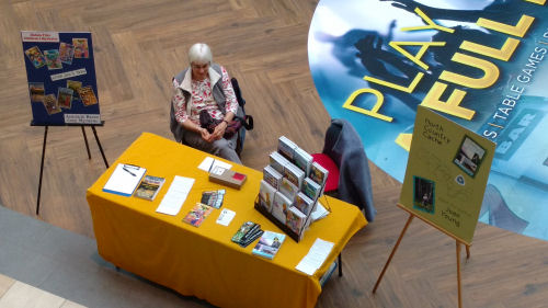 author table at Colonie Mall
