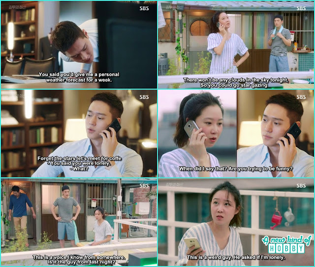 jung won call na ri to remind her give him the special weather forecast for 1 week  - Jealousy Incarnate - Episode 3 Review - Hospital Encounter
