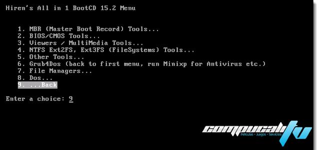 Hiren's BootCD v15.2 Diagnostico para Reparar PC Computadores