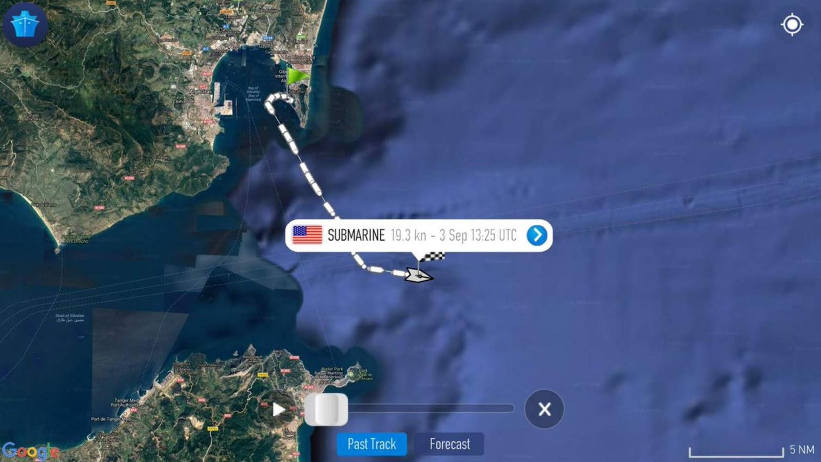 Kapal selam nuklir Angkatan Laut AS memasuki Laut Mediterania