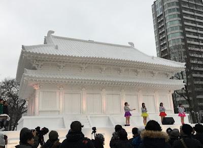 奈良薬師寺の雪像