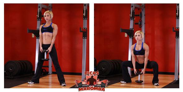 treino de pernas para mulheres - agachamento plie