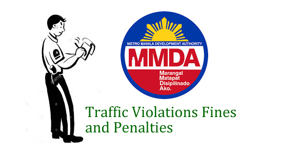 List of Traffic Violations Fines and Penalties MMDA
