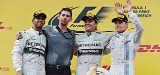 Nico Rosberg logra su sexta victoria de por vida en la Fórmula Uno, podio de Austria 2014