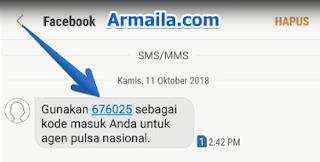 Gunakan kode sms yang dari facebook untuk memverifikasi nomor anda