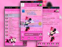 Download BBM MOD Minnie Mouse Pink v3.0.1.25 APK Terbaru