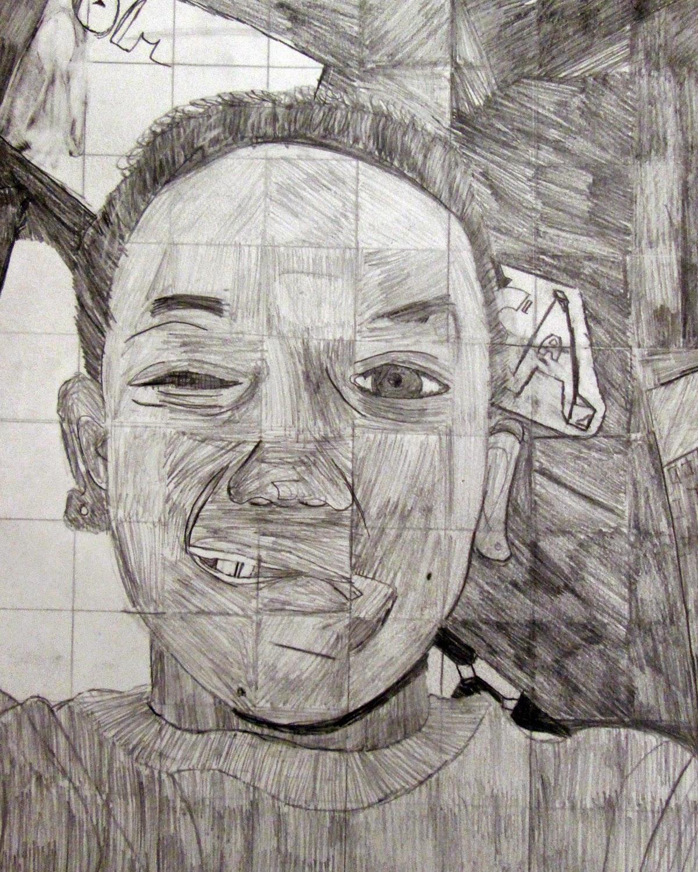 Art At Leestown Grid Self Portraits