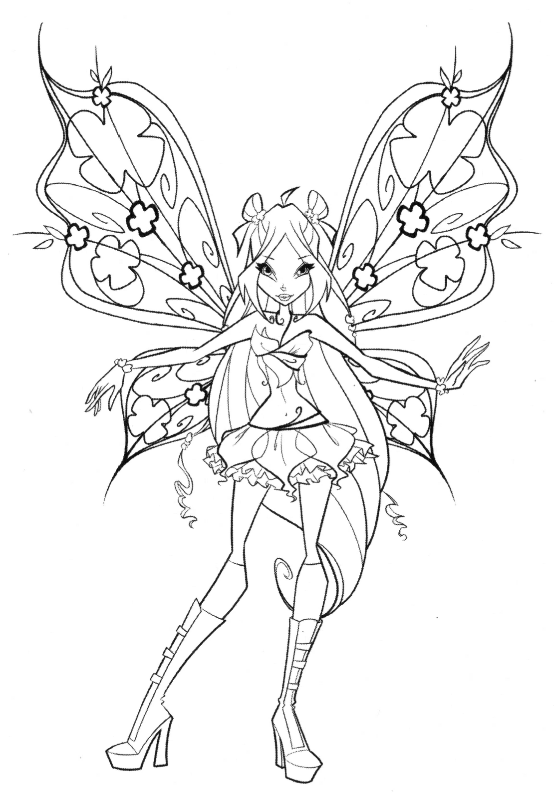 winx believix coloring pages | Winx Club Shines: Colorear: ¡Colorea a las Winx Believix!
