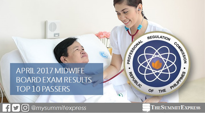 PRC RESULTS: Top 10 April 2017 Midwife board exam topnotchers