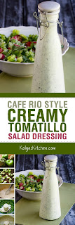 Cafe Rio Style Creamy Tomatillo Salad Dressing found on KalynsKitchen.com