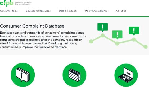 Consumer Complaint Database CFPB