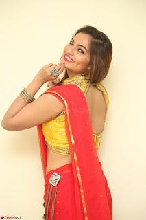 Actress Ashwini in Golden choli Red saree Spicy Pics ~  106.JPG