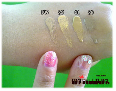 swatch Liquid Foundation Mustika Ratu